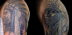 Cover-up, indian, rukav, vlk, wolf