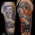 Liska,fox,portrait,sleeve,cover-up