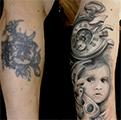Cover.up, portret, dite,biomechanika, clock, hodiny